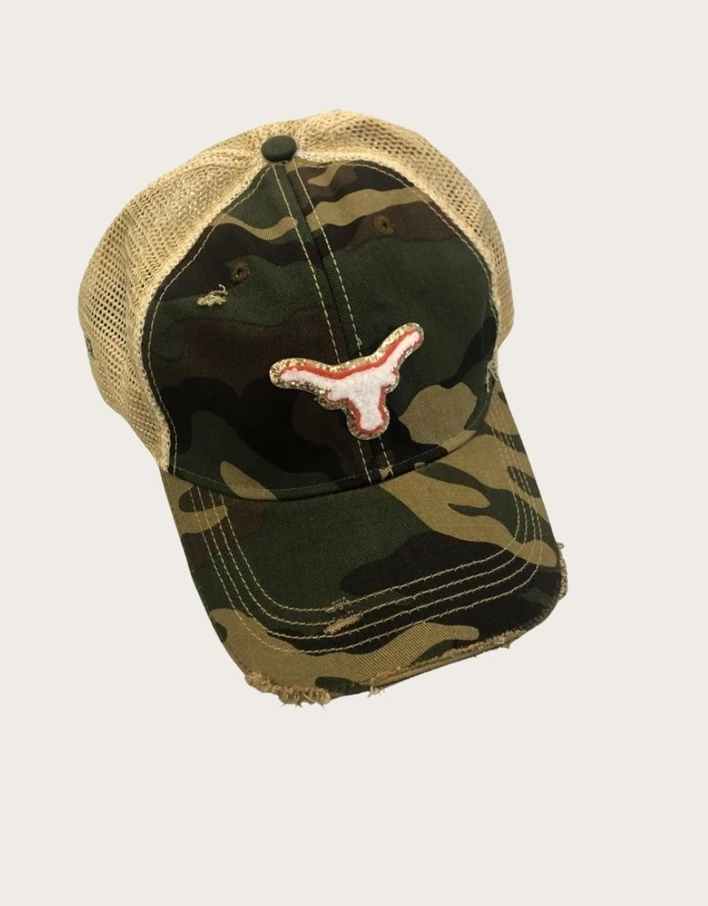 JUDITH MARCH Texas Longhorn Patch Hat