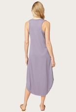 ENTRO Racerback Scallop Hem Dress Lavender