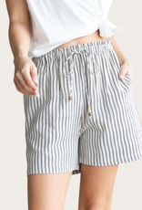 COTTON BLEU Striped Linen Drawstring Short