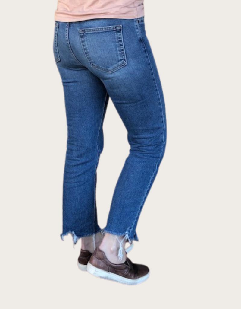 JUST BLACK DENIM High Rise Vintage Straight Jeans