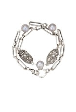 FRENCH KANDE Silver Versailles Chain with Pearl Accents and Cuvee Pendants