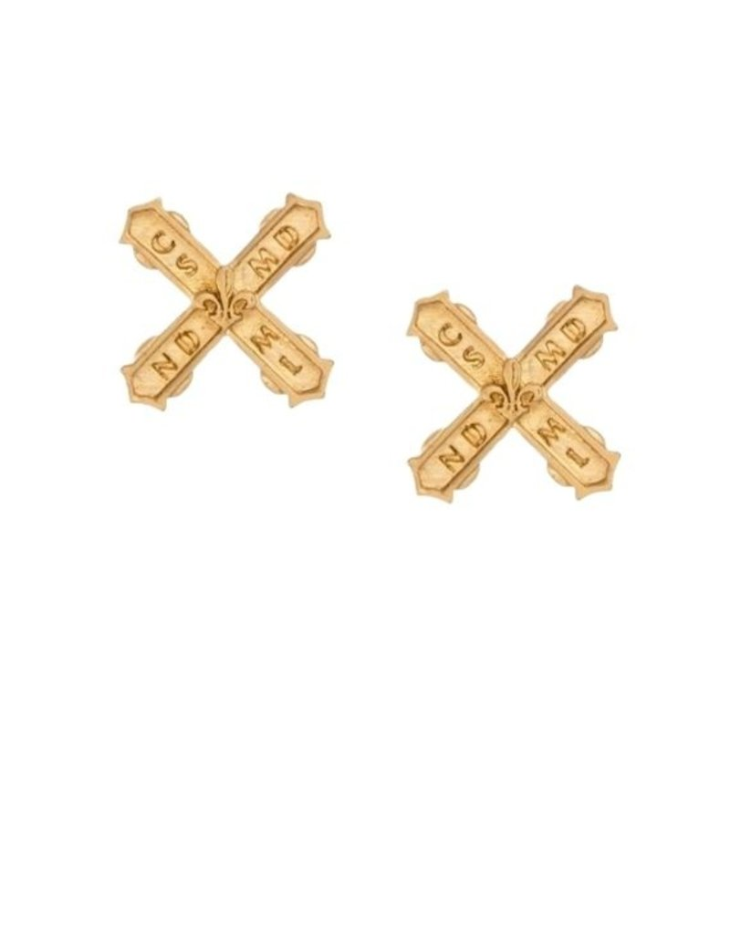 FRENCH KANDE Petite French Kiss Earrings Gold