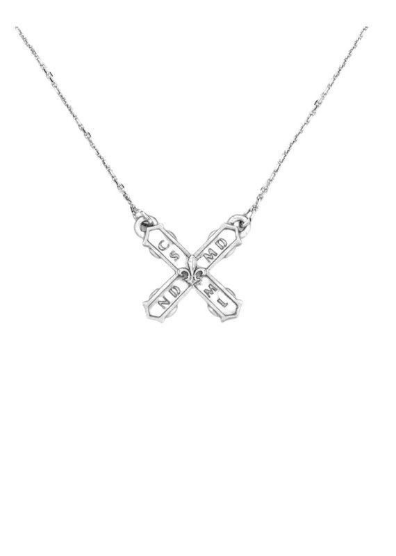 FRENCH KANDE Petite French Kiss Necklace Silver