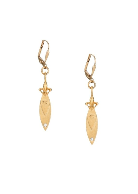 FRENCH KANDE Micro Pointu Earring Gold