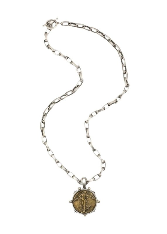 FRENCH KANDE Lyon Chain with L'ange Medallion