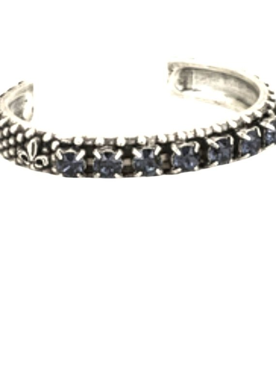 FRENCH KANDE Graphite Swarovski Bangle