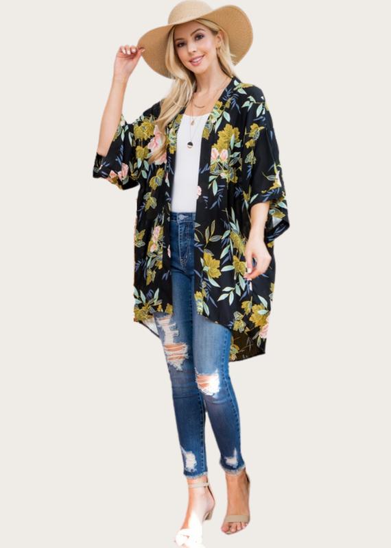 L.A. SOUL All Over Floral Kimono