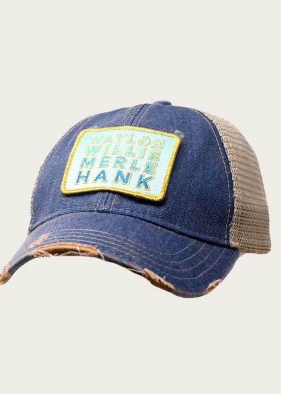 JUDITH MARCH Striped Legends Patch Hat