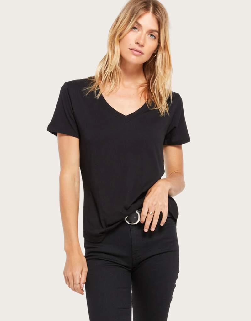Z SUPPLY Kasey Modal V-Neck Black