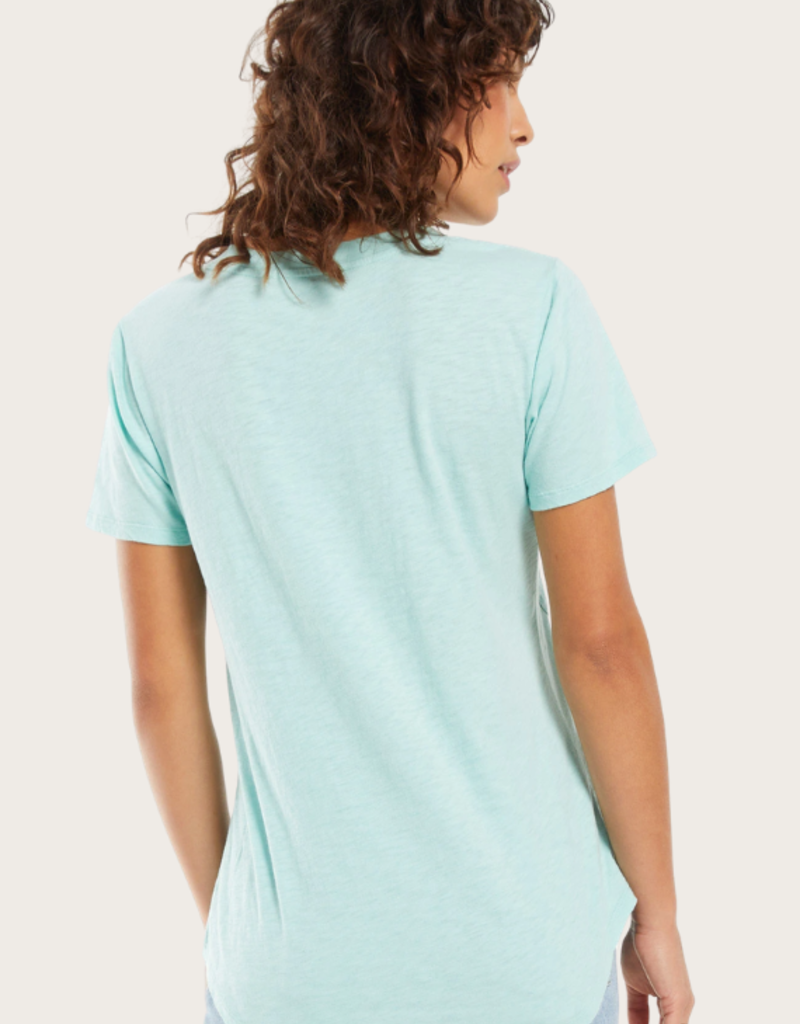 Z SUPPLY Cotton Pocket Tee Aqua