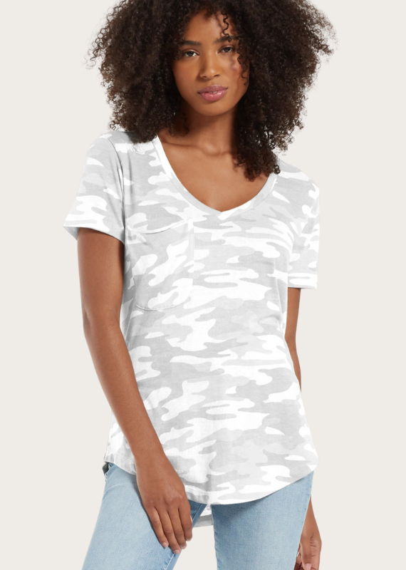 Z SUPPLY Camo Pocket Tee Dove