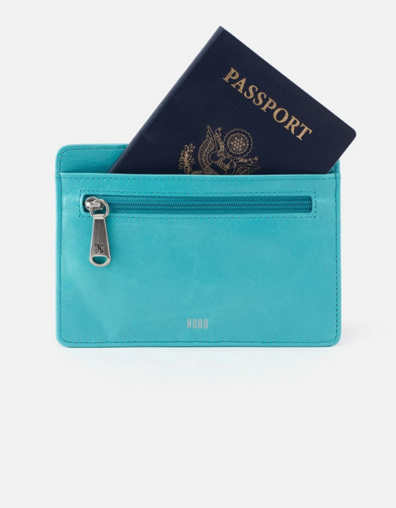 Euro Slide Card Case Aqua