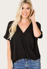 ZENANA Brushed Short Sleeve Top Black