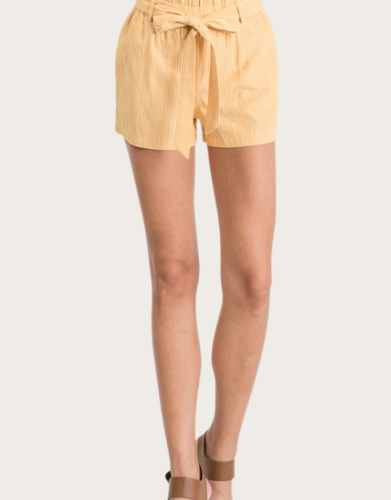 MUSTHAVE Linen Shorts Mustard