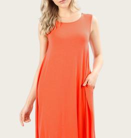 ZENANA A-Line Tank Dress Copper