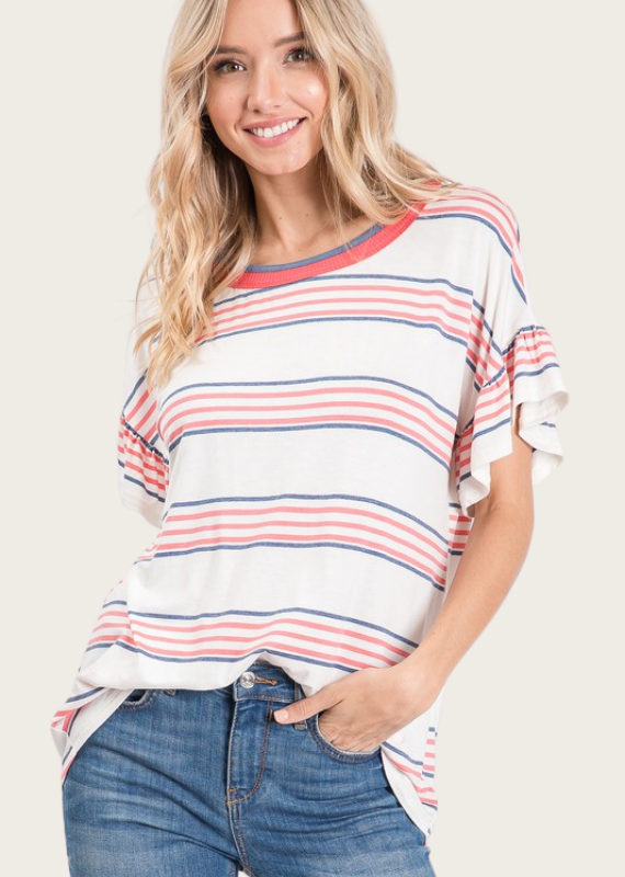 HAILEY & Co Rayon Striped Jersey