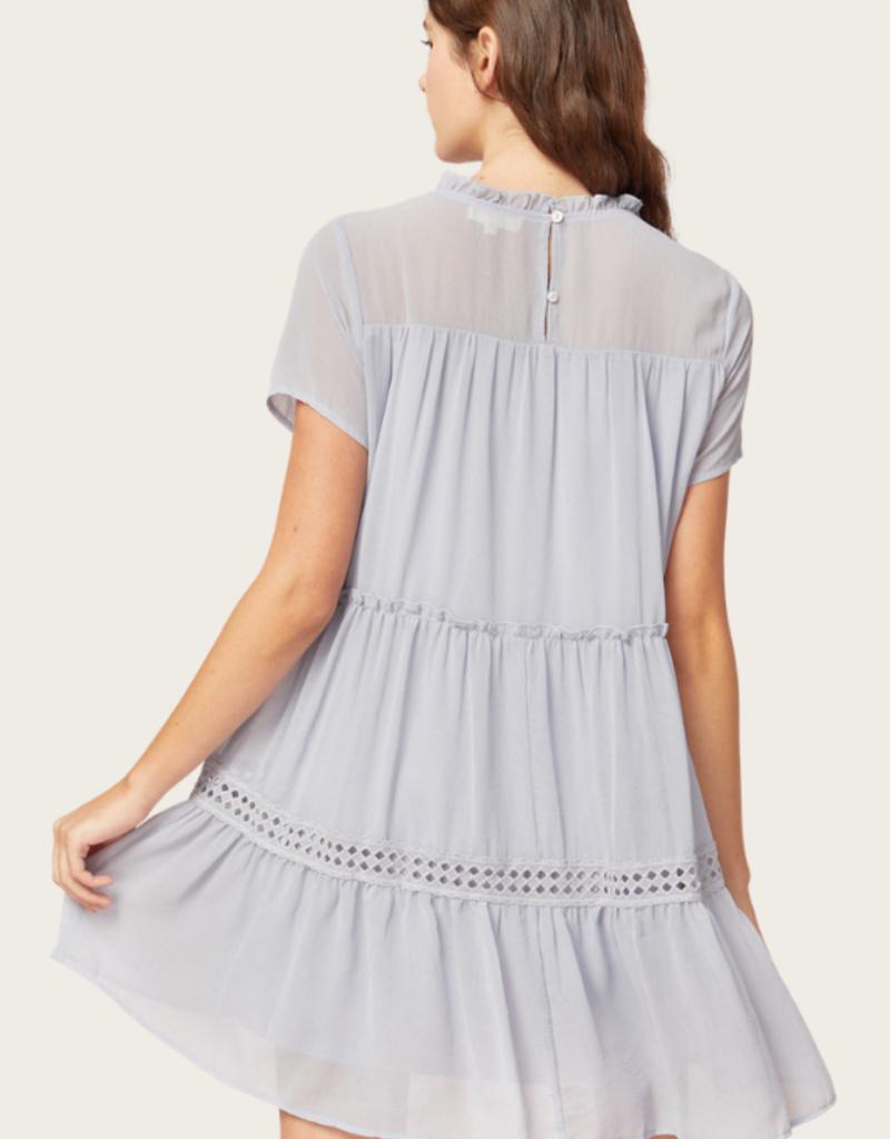 ENTRO Dusty Blue Dress