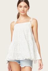 ENTRO Off White Lace Top