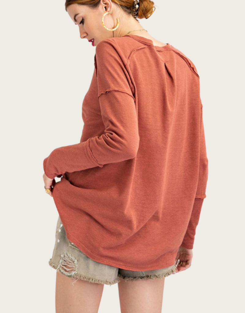Red Bean Jersey Top