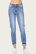 JUDY BLUE Hi-Rise Cuff Slim Fit Jean