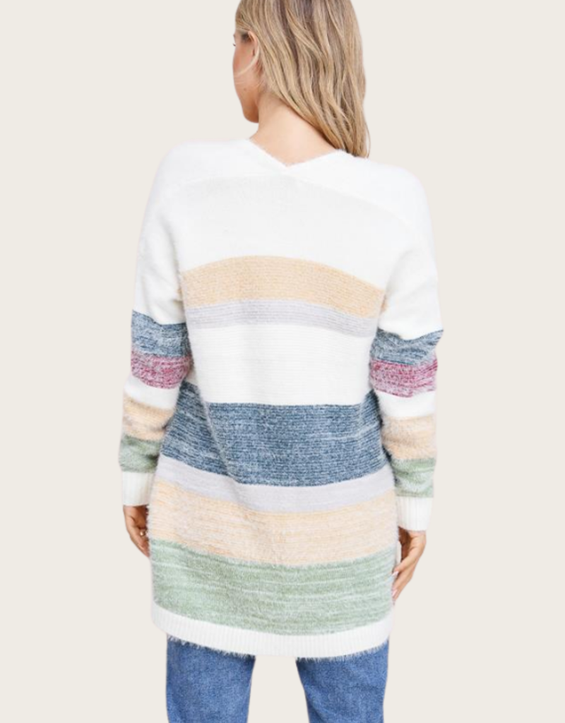 STACCATO Teal Open Front Cardigan