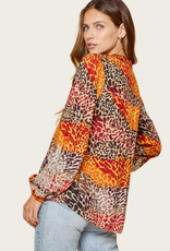 ANDREE BY UNIT Multi Color Embroidered Top