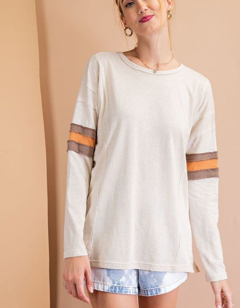 Oatmeal LS Cotton Top