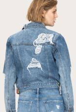 VERVET Distressed Patched Jacket