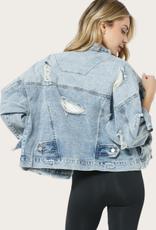 Blue B Denim Distressed Vintage Jacket
