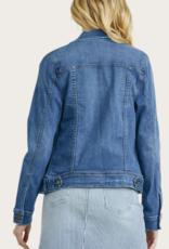 JUST PANMACO Distressed Denim Jacket