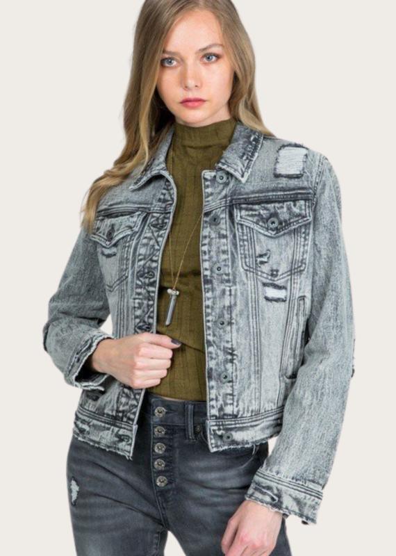 SPECIAL A Grey Denim Jacket