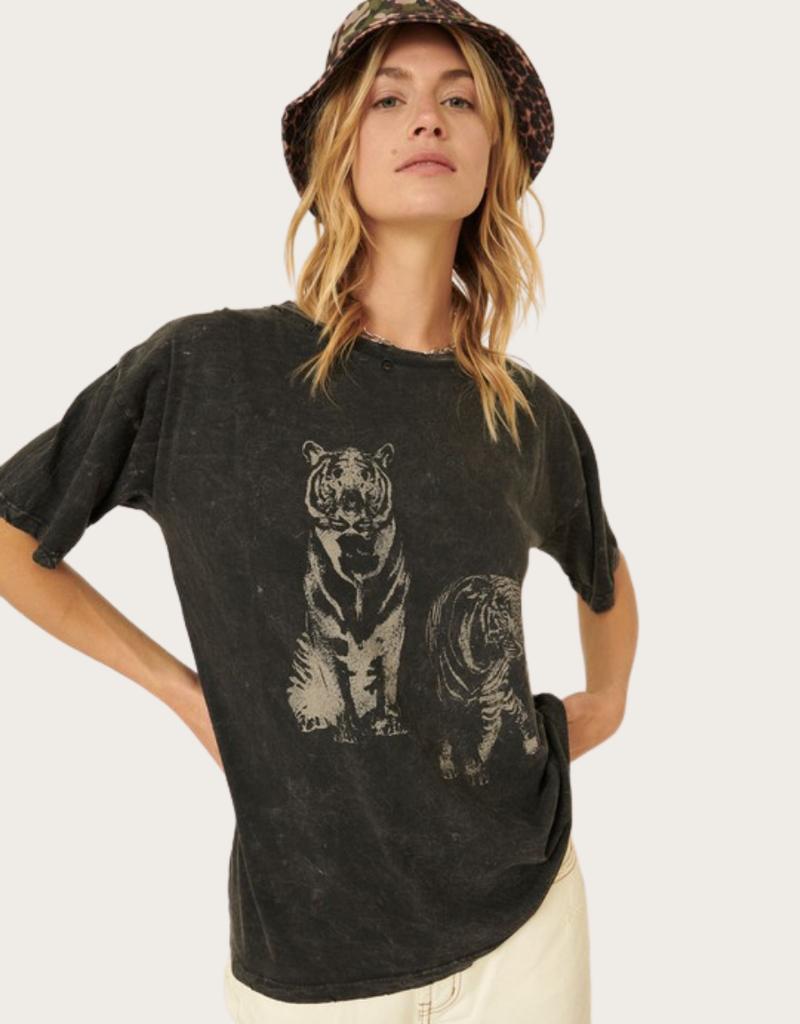PROMESA Charcoal Tigers Print Top