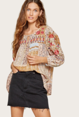 ANDREE BY UNIT Floral Print Top