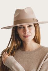 QUEENS Lt. Taupe Panama Hat