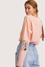 Faded Coral LS Top