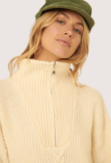 PROMESA Cream Half Zipper Sweater