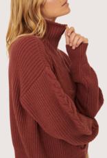 PROMESA Terracotta Half Zipper Sweater