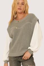 PROMESA Grey LS Round Neck Sweater