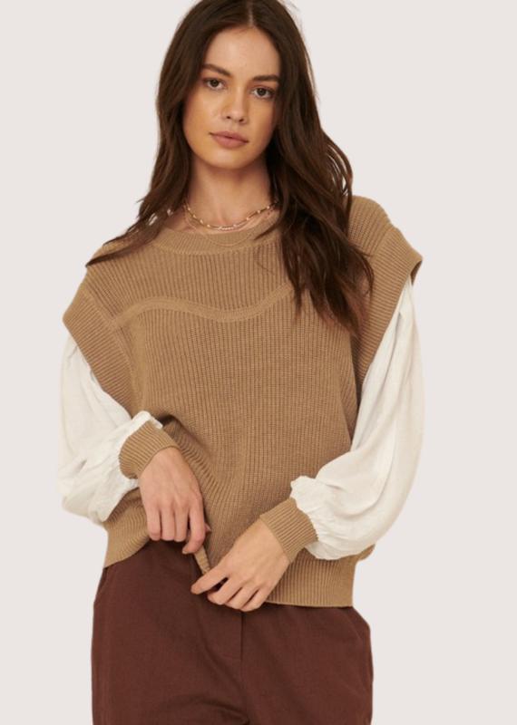 PROMESA Sand LS Round Neck Sweater