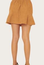 PROMESA Taupe Corduroy Mini Skirt