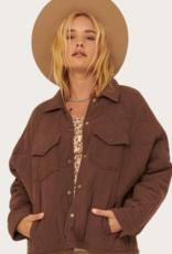 PROMESA Espresso Woven Quilt Jacket