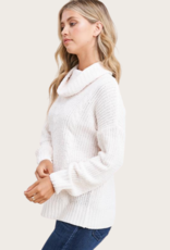 STACCATO Ivory LS Turtle Neck Sweater