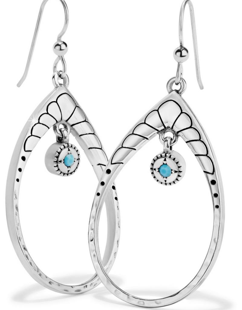BRIGHTON Marrakesh Mystique Open Teardrop French Wire Earring
