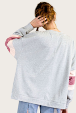 Heather Grey LS Terry Knit Top