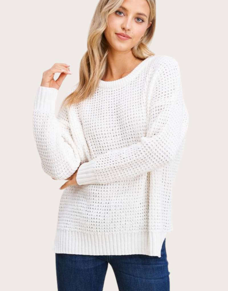 STACCATO Round Neck Ivory  Pullover Sweater