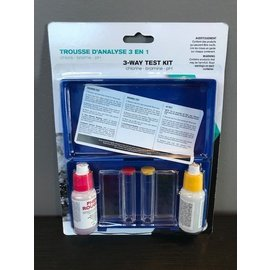 (DC) 3-Way Test Kit (OTO, Chlorine/Bromine & ph), Boxed