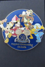 DISNEYLAND 50TH ANNIVERSARY HAPPIEST HOMECOMING SPINNER MICKEY GOOFY DONALD PIN