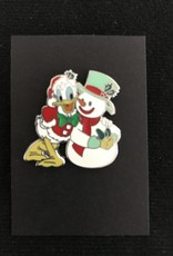 Disney PIN DLR - Happy Holidays 2008 -Donald with Snowman LE