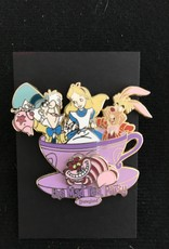 DISNEY ALICE IN WONDERLAND PIN, DLR ATTRACTIONS, THE MAD TEA PARTY 3D