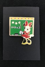 DISNEY PIN WDL ELEMENTARY SCHOOL TEACHER ABC 1+2=3 MINNIE MOUSE CHALKBOARD RET